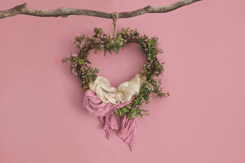 Lovely flower background for newborn baby, concept of newborn ba フォト