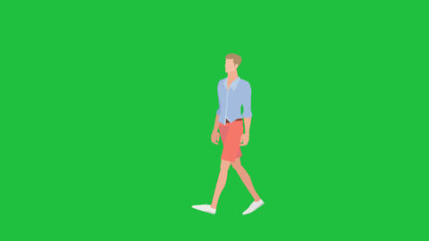 Vogue Male Walking 4K: Greenscreen+ Looping Animation