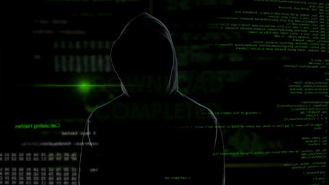 Download completed, hacker stealing personal data from account, system message Live Action