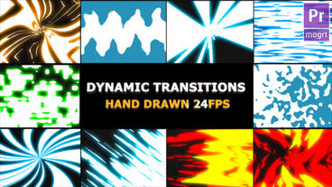 Dynamic Elemental Transitions Motion Graphics Template