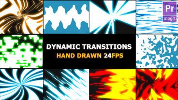 Dynamic Elemental Transitions モーショングラフィックステンプレート