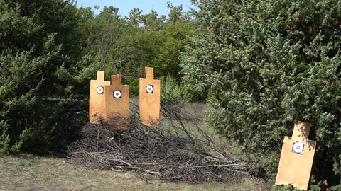 Target For Firing At The Range Footage