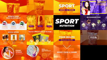 Sport Nutrition Promo After Effects Template