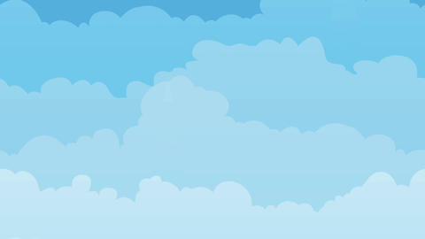Sky Background With Clouds Seamless Looping Animation