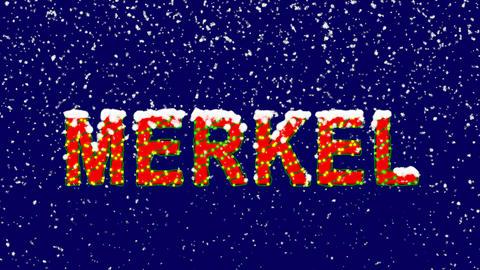 New Year text Person of the World Politics MERKEL. Snow falls. Christmas mood, Animation