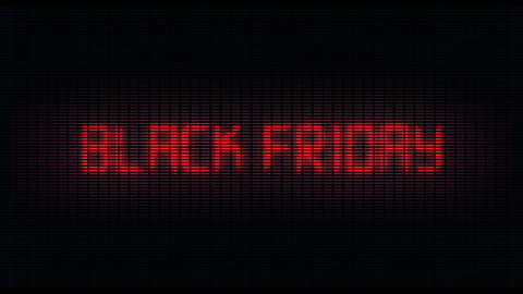 Black Friday digital animated writing on digital background, ideal for e Footage