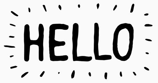Hello Letters Scribble Animation Doodle Animation