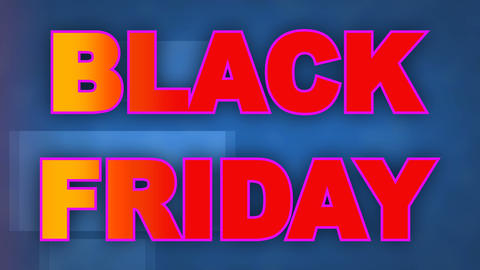 Black Friday written animated ideal for the sales period, ideal for e-commerce Footage