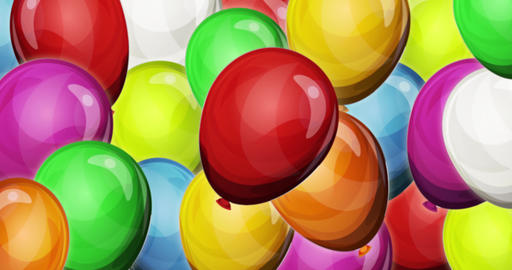 Dynamic Party Balloons Background For Game UI Animation