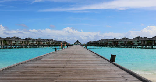 Water Bungalows in the Maldives Archivo