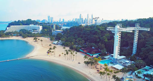 Sentosa aerial view Live Action