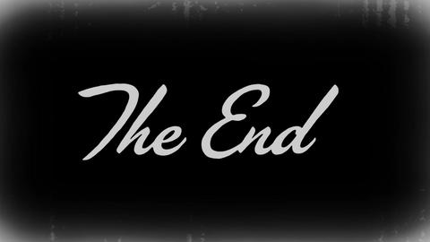 The End Old Film Background Animation