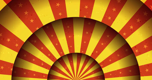 Vintage Animated Circus Merry-Go-Round Background Animation
