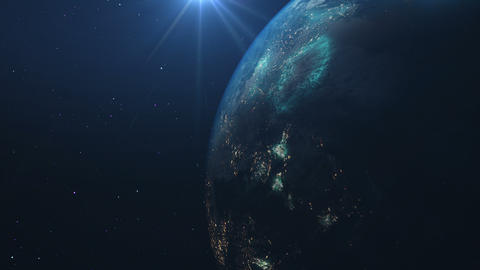 Earth From Dark To Light Animation