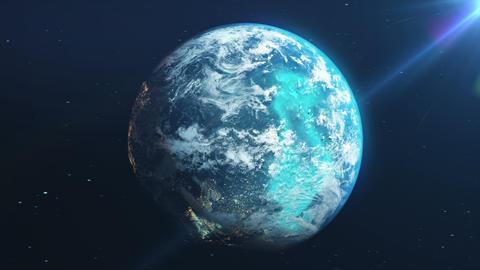 Earth Rotation Loop GIF