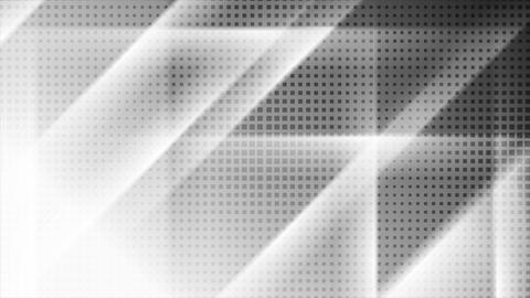 Contrast white and black tech geometric motion background Animation