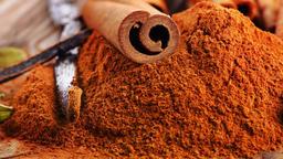 Tied Cinnamon Sticks On Table Footage