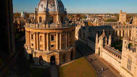 Radcliffe Camera, Oxford University, England, UK Stock Video Footage