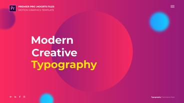 Typography モーショングラフィックステンプレート