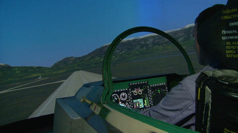 Aviation simulator Stock Video Footage