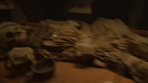 The corpse, the mummy of a man, the remains Footage