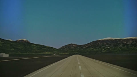 The rise of a jet plane Stock Video Footage