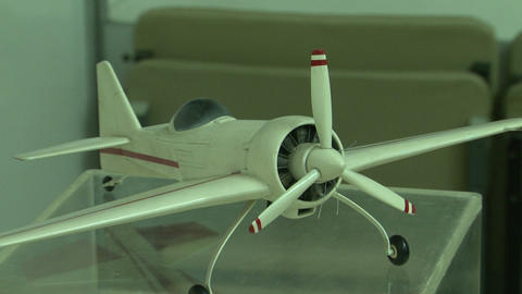 A model of single-engine aircraft Stock Video Footage