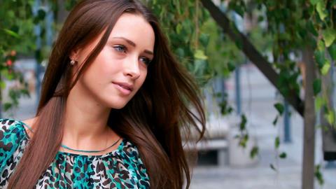 Beautiful girl posing Stock Video Footage