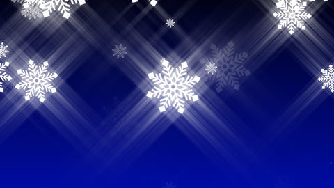 Loopable Snow Falling Animation Stock Video Footage