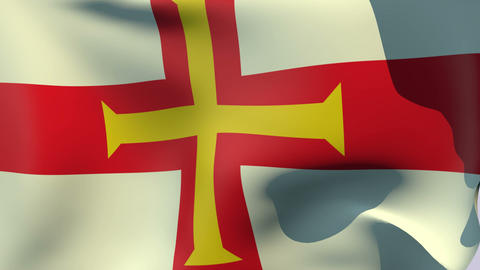 Flag of Guernsey Animation