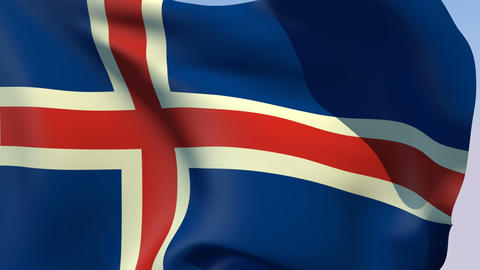 Flag of Iceland Animation