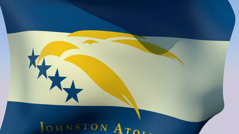 Flag of Johnston Atoll (unofficial) Stock Video Footage