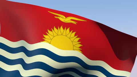 Flag of Kiribati Animation