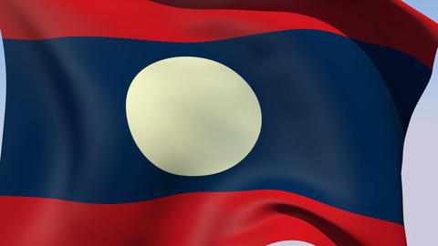 Flag of Laos Animation