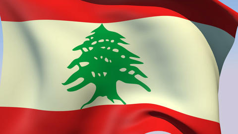 Flag of Lebanon Animation