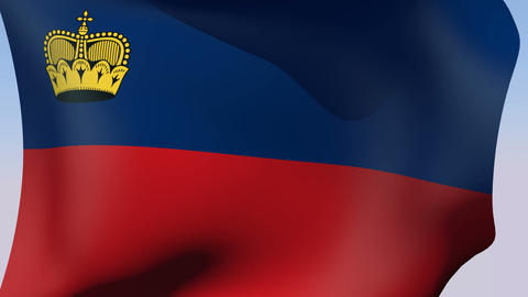 Flag of Liechtenstein Animation