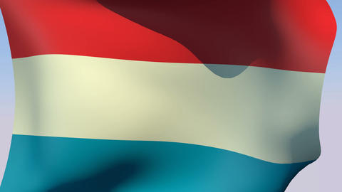 Flag of Luxembourg Animation