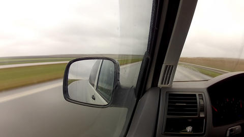 timelapse driving a car in the rain Footage