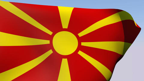Flag of Macedonia Animation