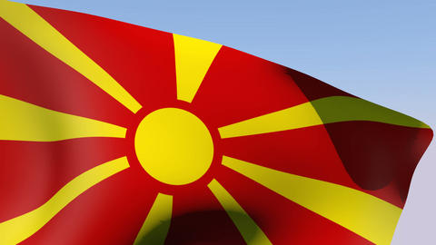 Flag of Macedonia Stock Video Footage