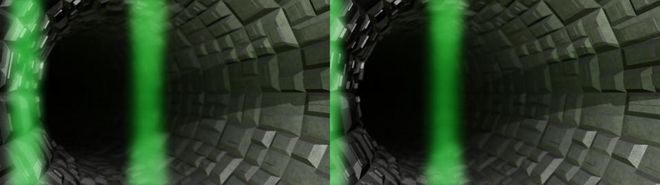 Tunnel Countdown - Stereoscopic 3D Stock Video Footage