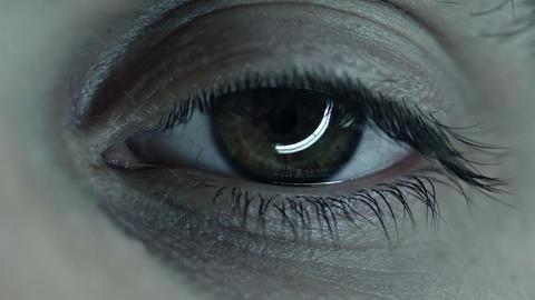 Spooky macro of an eye Stock Video Footage