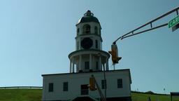 Halifax Nova Scotia New Scotland Canada 055 old town clock on Citadel Hill Footage