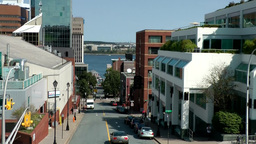 Halifax Nova Scotia New Scotland Canada 056 Carmichael Street seen from hill Footage