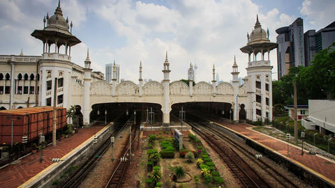 Side View Kuala Lumpur Sentral Railway Station Footage