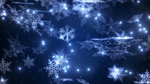 Animation of the falling snowflakes Animation