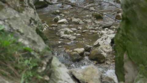 River Rapids Through Cliffs Footage