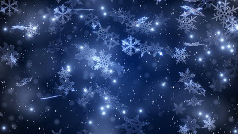 Christmas background with snowflakes - falling snow Animation