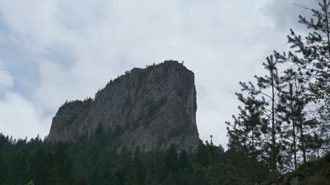 Cross On High Mountain stock footage