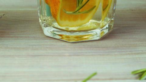 Detox water orange cocktail Footage